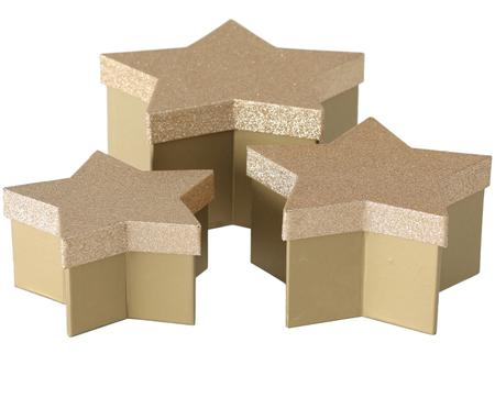 Set de cajas para regalo Star, 3pzas.