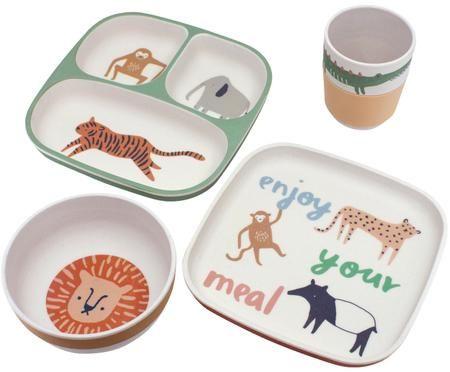 Komplet z porcelany Wildlife, 4 elem.