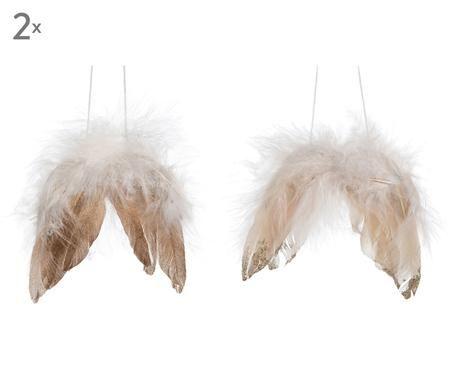 Adornos navideños Wings, 4 pzas.