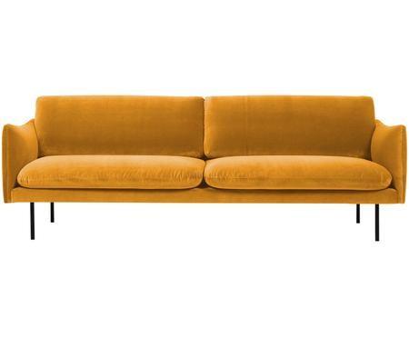 Sofá de terciopelo Moby (3plazas)