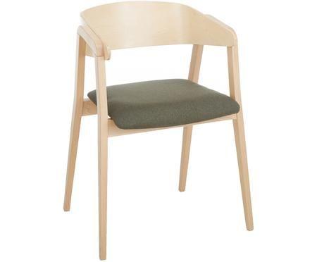 Krzesło z podłokietnikami Klara z drewna bukowego