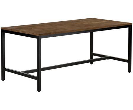 Tavolo da pranzo Raw con piano in legno massello