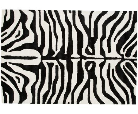 Handgetufteter Teppich Kapstadt mit Zebramuster