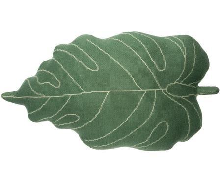 Kissen Baby Leaf in Blattform, mit Inlett