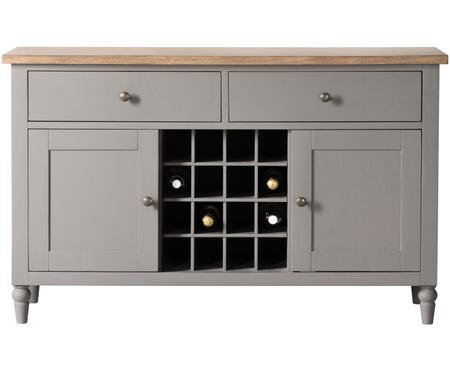 Sideboard Cookham im Landhausstil mit Weinregal