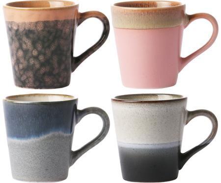Set tazze da caffè fatte a mano 70's, 4 pz.