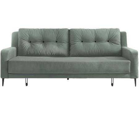 Sofa rozkładana z aksamitu Bergen (3-osobowa)