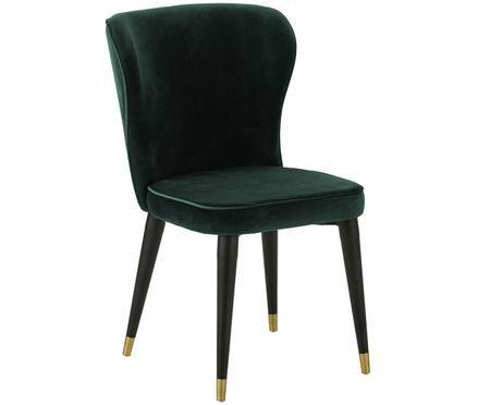 Krzesło tapicerowane z aksamitu Cleo