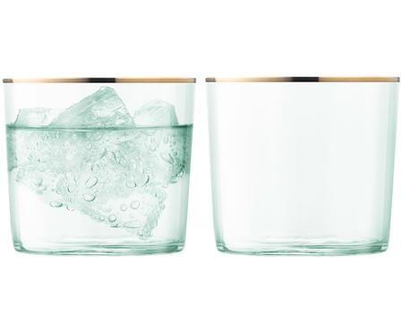 Vasos de agua de vidrio soplado Sorbet, 2uds.