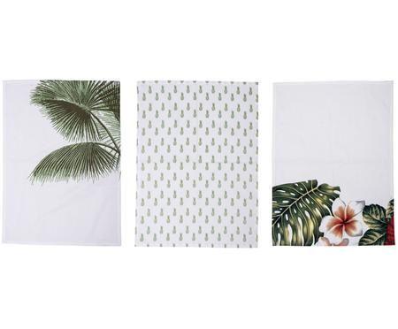 Geschirrtücher Aruba mit tropischen Motiven, 3er-Set