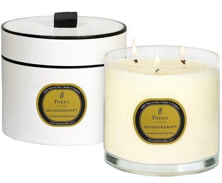 Bougie parfumée à trois mèches Aromatherapy (bois de santalet ylang-ylang)