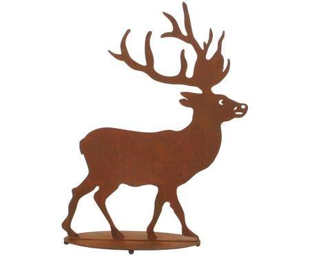 Cervo decorativo in metallo Hirsch