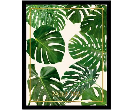 Gerahmter Digitaldruck Palm Tree II