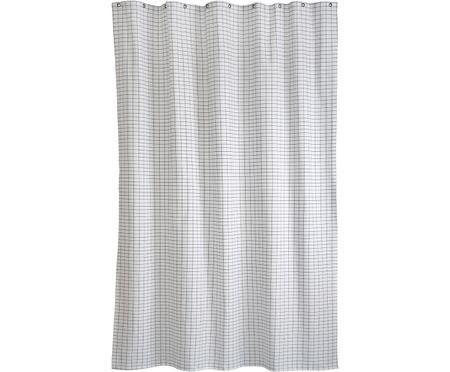 Schmaler Duschvorhang Tile aus Baumwoll-Mix