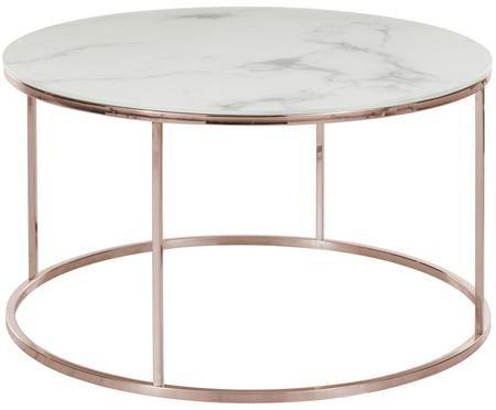 Tavolino da salotto Athena con piano in vetro marmorizzato