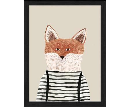 Gerahmter Digitaldruck Fox