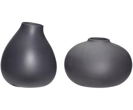 Sada keramických váz v tmavě šedé barvě Nokka, 2 díly