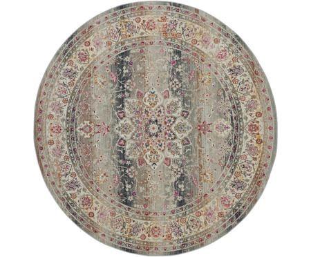 Kulatý koberec snízkým vlasem Kashan Age