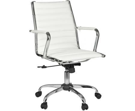 Sedia da ufficio girevole in similpelle Amstyle, regolabile in altezza
