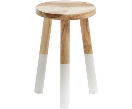 Stołek  z drewno naturalnego Brocsy
