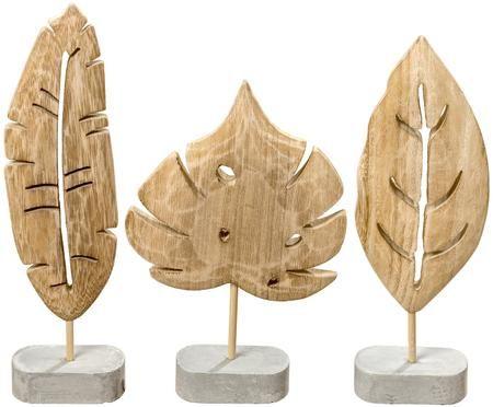 Decoratieve objectenset Blatt, 3-delig