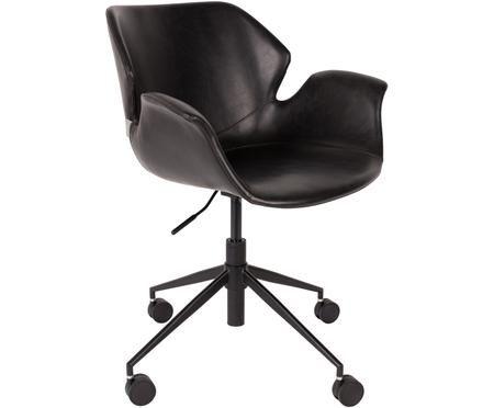 Sedia girevole da ufficio in similpelle Nikki, regolabile in altezza