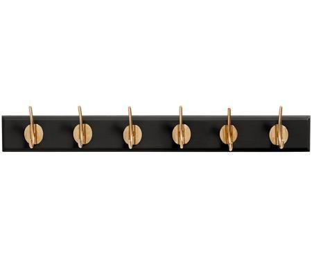 Dřevěný nástěnný věšák s kovovými háky Aoife