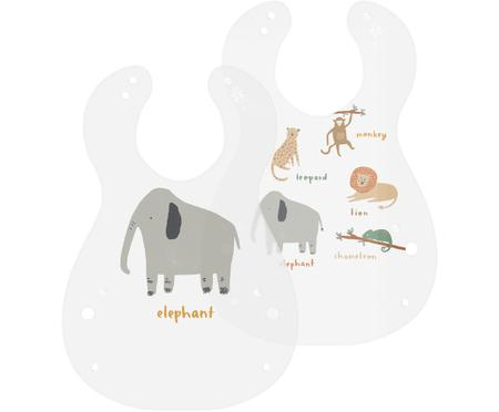 Baby-slabbetje Wildlife, 2-delig