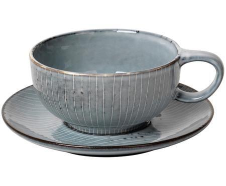 Handgefertigte Tasse mit Untertasse Nordic Sea