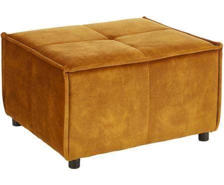 Sgabello da divano Cube in velluto