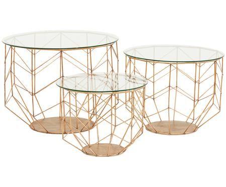 Set tavolini da salotto Wire, 3 pz.