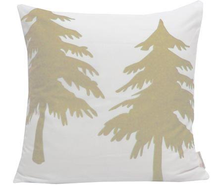 Samt-Kissenhülle Trees mit Tannenbäumen