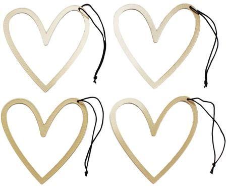 Confezione regalo Heart, metallo, 4 pz.