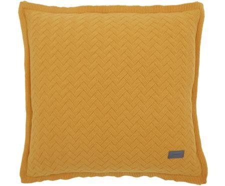 Housse de coussin en tricot Fishbone