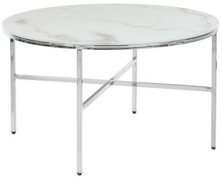 Table basse Athena avec plateau en verre marbré