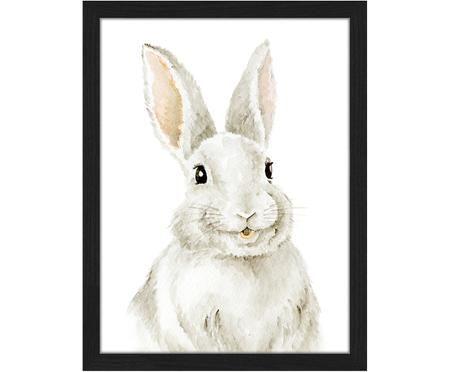 Ingelijste digitale print Bunny