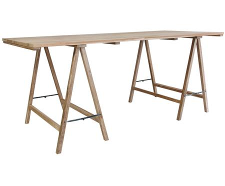 Massief houten tafel Trestle in scandi design