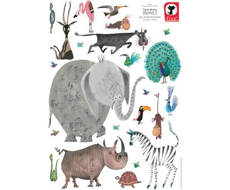 XL-Wandaufkleber-Set Animals, 23-tlg.