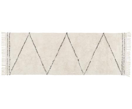 Handgetufteter Baumwollläufer Asisa mit Zickzack-Muster