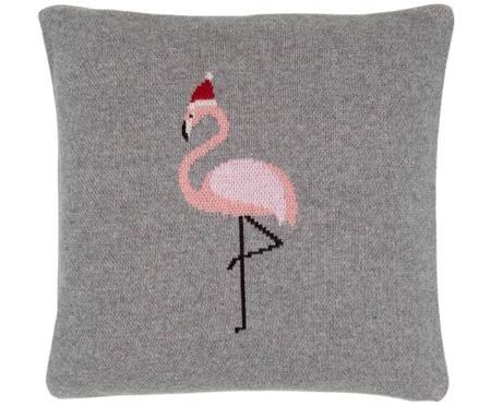 Funda de cojín de punto Flamingo