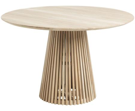 Ronde massief houten eettafel Jeanette in scandi design