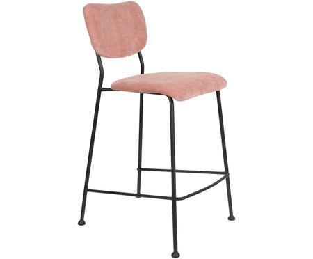 Krzesło kontuarowe ze sztruksu Beson