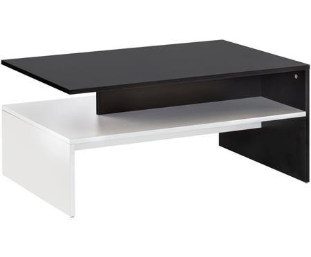 Moderne salontafel Murphy in zwart en wit