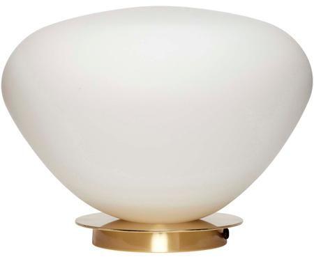 Tischleuchte Lando aus Opalglas