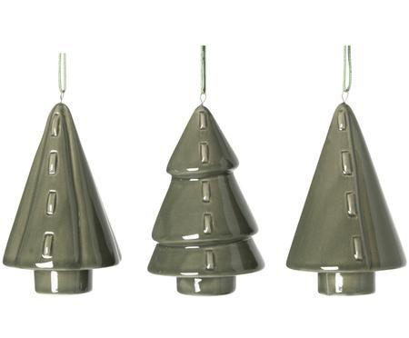 Set de adornos navideños Trees, 3pzas.