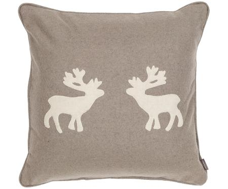 Cuscino in feltro di lana Sister Reindeer