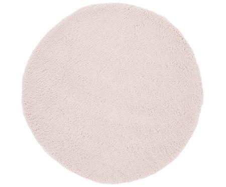 Flauschiger runder Hochflor-Teppich Leighton in Rosa
