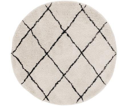 Runder Teppich Naima, handgetuftet