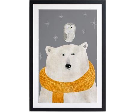 Gerahmter Digitaldruck The Bird and The Bear