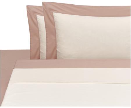 Completo letto in percalle Plein con lenzuolo sopra, 4 pz.
